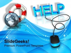 Help With Computer Mouse Internet PowerPoint Templates Ppt Backgrounds For Slides 1112