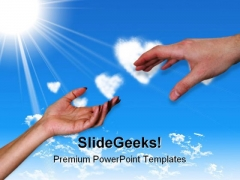 Helping Hands Family PowerPoint Templates And PowerPoint Backgrounds 0711