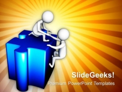 Helping The Business Partners To Find Solution PowerPoint Templates Ppt Backgrounds For Slides 0713