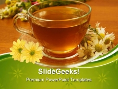 Herbal Tea Health PowerPoint Templates And PowerPoint Backgrounds 0611