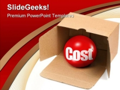 Hidden Cost Business Marketing PowerPoint Backgrounds And Templates 0111