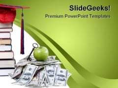 High Cost Education PowerPoint Template 0810