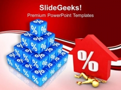 High Interest Rate Are Puzzling People PowerPoint Templates Ppt Backgrounds For Slides 0613