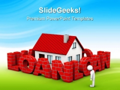 High Mortgage Rate Real Estate PowerPoint Templates And PowerPoint Backgrounds 0511