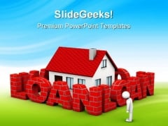 High Mortgage Rate Real Estate PowerPoint Themes And PowerPoint Slides 0511