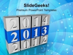 Highlighted New Year Box PowerPoint Templates Ppt Backgrounds For Slides 1212