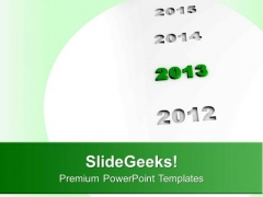 Highlights 2013 New Year PowerPoint Templates Ppt Backgrounds For Slides 0113