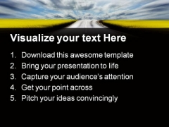 Highway To Success PowerPoint Themes And PowerPoint Slides 0811