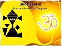 Hindu Ganesha Religion PowerPoint Template 0610