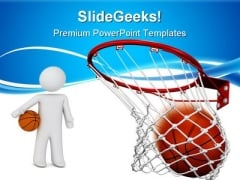Hit The Ball Sports PowerPoint Templates And PowerPoint Backgrounds 0711