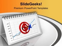 Hit The Business Target For Month PowerPoint Templates Ppt Backgrounds For Slides 0613
