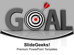 Hit The Goal For Success PowerPoint Templates Ppt Backgrounds For Slides 0613
