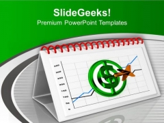 Hit The Monthly Results PowerPoint Templates Ppt Backgrounds For Slides 0613