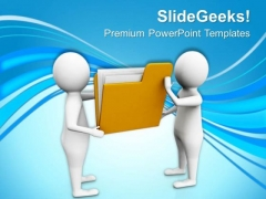 Hold The Folder Of Important Document PowerPoint Templates Ppt Backgrounds For Slides 0713