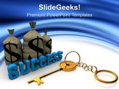 Hold The Key Of Success PowerPoint Templates Ppt Backgrounds For Slides 0513