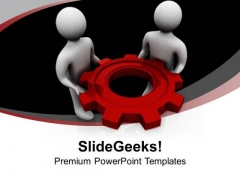 Hold The Right Gear For Success PowerPoint Templates Ppt Backgrounds For Slides 0613