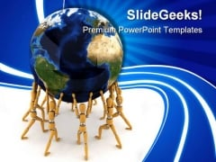 Holding The World Globe PowerPoint Themes And PowerPoint Slides 0211