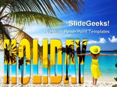 Holiday Beach PowerPoint Templates And PowerPoint Backgrounds 0811