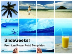 Holidays Dreams Beach PowerPoint Templates And PowerPoint Backgrounds 0811