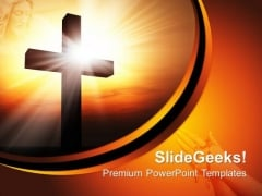 Holy Cross Christianity PowerPoint Templates And PowerPoint Themes 0712