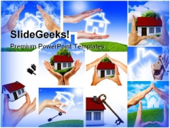 Home Collage Real Estate PowerPoint Themes And PowerPoint Slides 0511