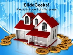 Home Insurance Concept Finance PowerPoint Templates Ppt Backgrounds For Slides 0113