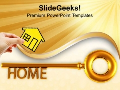 Home Key Real Estate Security PowerPoint Templates Ppt Backgrounds For Slides 0213