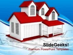 Home Plans Real Estate PowerPoint Templates And PowerPoint Themes 0812