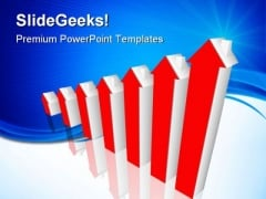 Home Prices Up Real Estate PowerPoint Templates And PowerPoint Backgrounds 0711