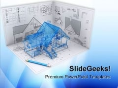 Home Project Architecture PowerPoint Templates And PowerPoint Backgrounds 0811