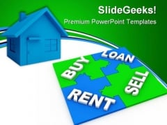 Home Puzzle Buy And Sell Real Estate PowerPoint Themes And PowerPoint Slides 0411