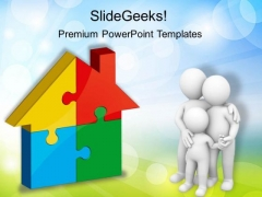 Home Puzzle Real Estate PowerPoint Templates And PowerPoint Themes 0212
