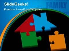 Home Puzzle Real Estate PowerPoint Templates And PowerPoint Themes 0312