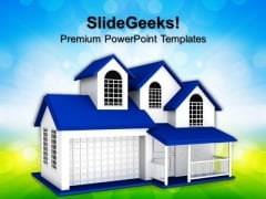 Home Sweet Home Real Estate PowerPoint Templates And PowerPoint Themes 0812