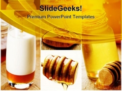 Honey For Health Food PowerPoint Templates And PowerPoint Backgrounds 0811