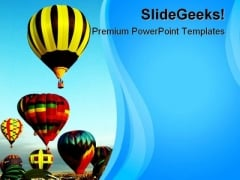 Hot Air Balloons Beauty PowerPoint Template 1110