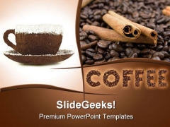 Hot Coffee Food PowerPoint Templates And PowerPoint Backgrounds 0311