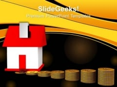 House And Money Finance PowerPoint Templates And PowerPoint Themes 0812