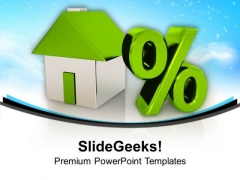 House And Percent Symbol Finance PowerPoint Templates And PowerPoint Themes 1112