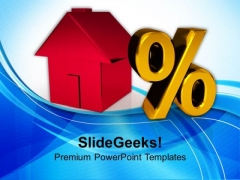 House And Percent Symbol Investment PowerPoint Templates Ppt Backgrounds For Slides 0113