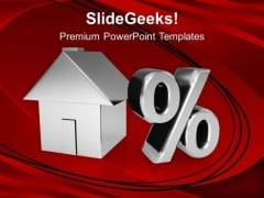 House And Percent Symbol PowerPoint Templates Ppt Backgrounds For Slides 0113