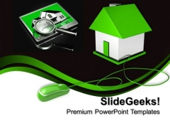 House Connected With Computer Network PowerPoint Templates And PowerPoint Themes 0812