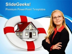 House Insurance Real Estate PowerPoint Templates And PowerPoint Backgrounds 0511