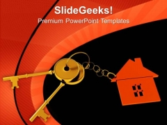 House Locked With Key Security PowerPoint Templates Ppt Backgrounds For Slides 0213