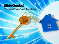 House With Key Security PowerPoint Templates And PowerPoint Themes 0812