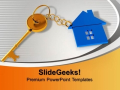 House With Key Security PowerPoint Templates And PowerPoint Themes 0912