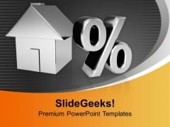 House With Percentage Symbol Growth Future PowerPoint Templates Ppt Backgrounds For Slides 0213