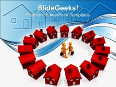 Houses Business Real Estate PowerPoint Templates And PowerPoint Themes 0812