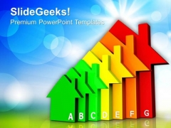 Housing Energy Efficiency Nature PowerPoint Templates And PowerPoint Themes 0812