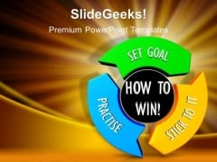 How To Win Set Goals PowerPoint Templates And PowerPoint Themes 1012